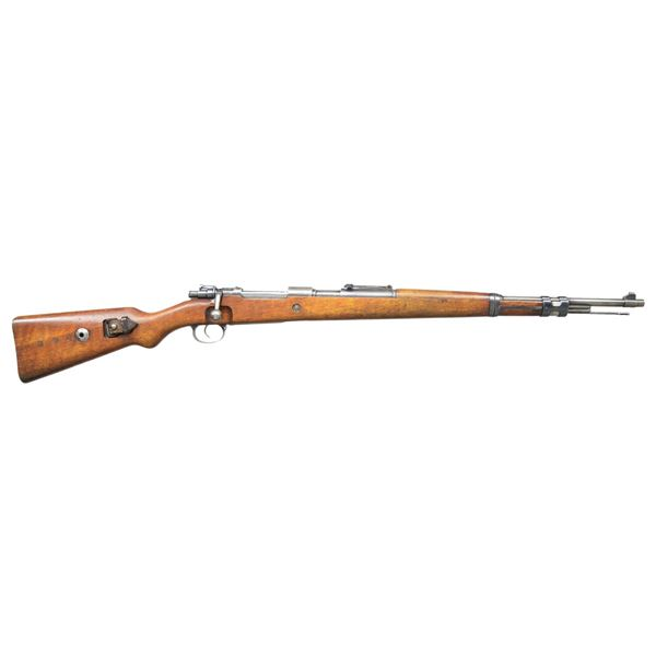 RARE GERMAN SS MARKED MODEL 98K BOLT ACTION RIFLE.