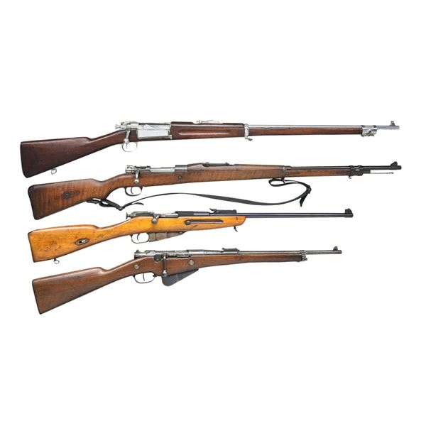 4 MILITARY BOLT ACTION RIFLES.