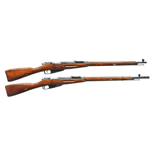2 RUSSIAN MODEL 91-30 WWII BOLT ACTION RIFLES.