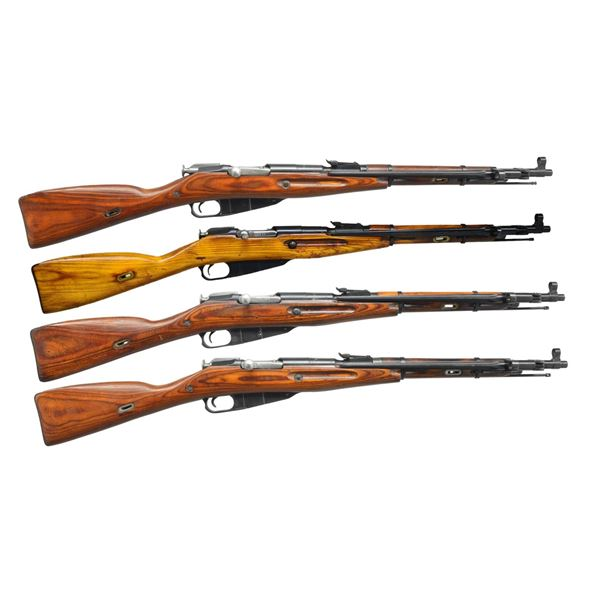 4 RUSSIAN MODEL 1944 BOLT ACTION CARBINES.