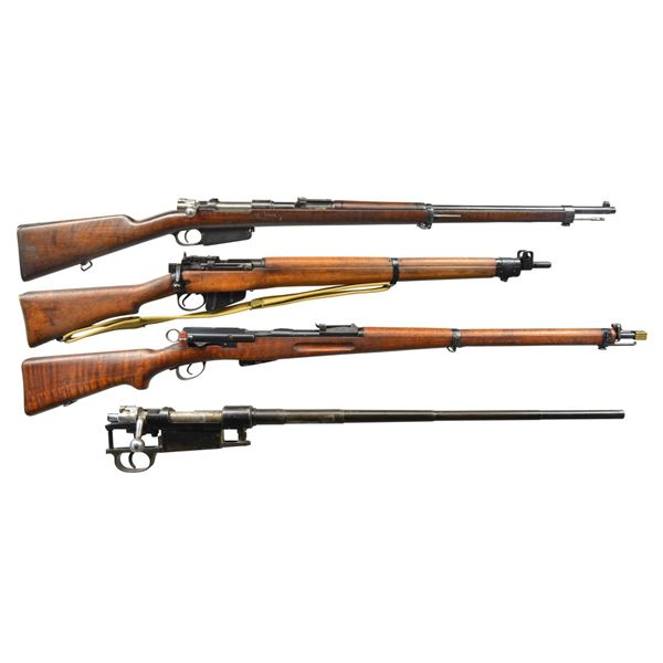 4 BOLT ACTION MILITARY RIFLES.