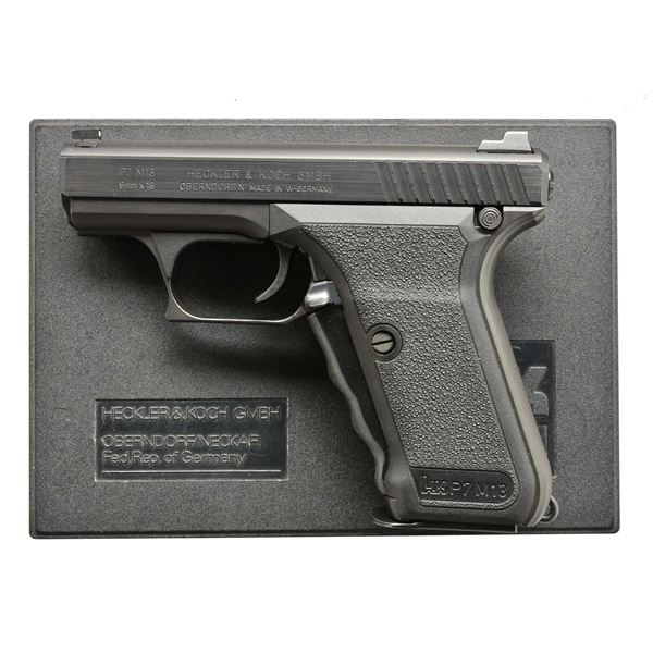 HECKLER & KOCH P7M13 SEMIAUTOMATIC PISTOL WITH BOX