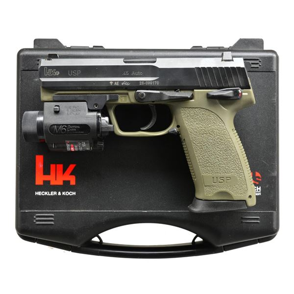 H&K USP45 PISTOL WITH STREAMLIGHT M6 LASER IN