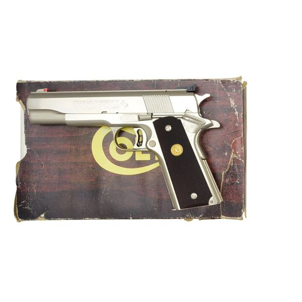 COLT GOLD CUP NATIONAL MATCH SEMI AUTO PISTOL.