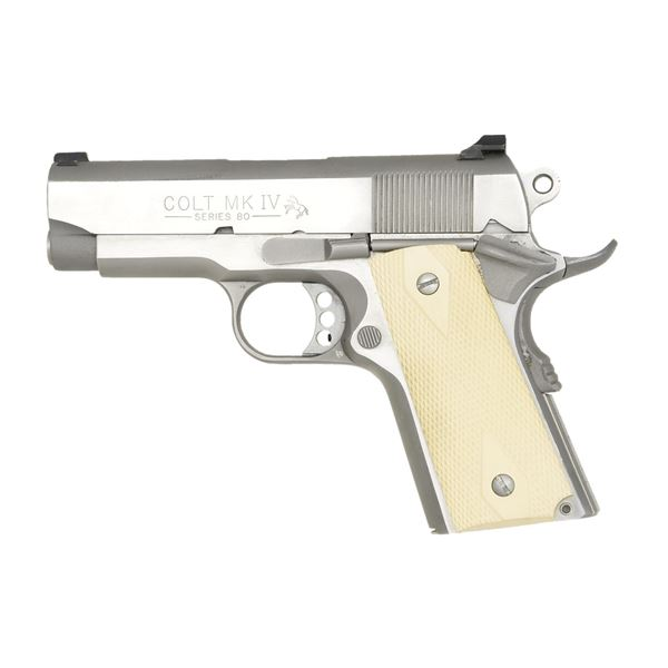 COLT MKIV SERIES 80 STAINLESS OFFICERS MODEL