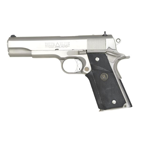 COLT STAINLESS DELTA ELITE 10MM PISTOL.