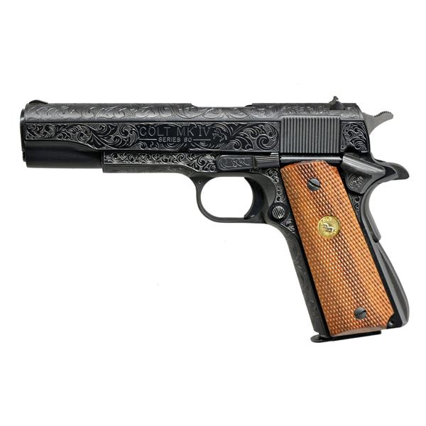 COLT MARK IV SERIES 80 GOVERNMENT MODEL ENGRAVED