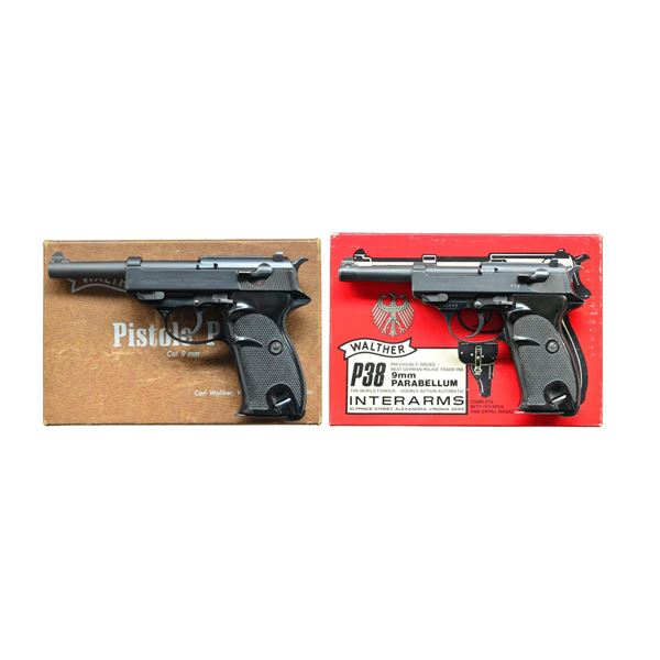 2 ALLOY FRAMED WALTHER MODEL P38 SEMI-AUTO