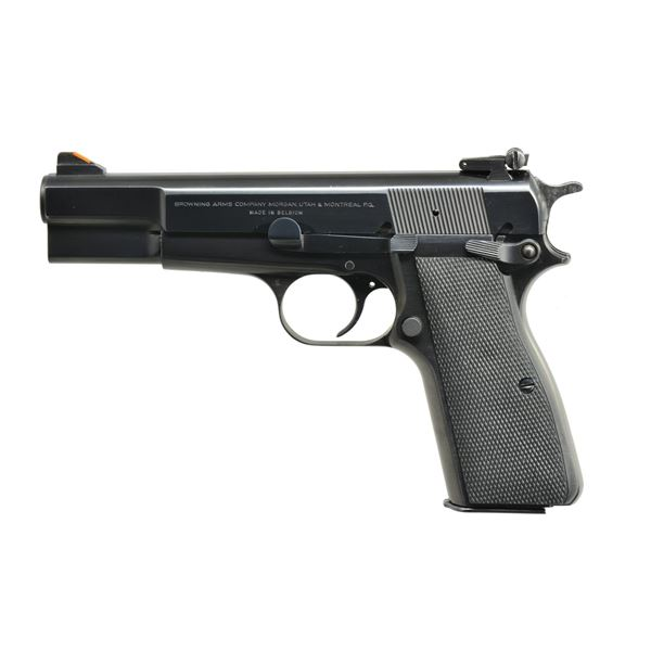 BROWNING HIGH POWER PISTOL WITH ADJUSTABLE SIGHTS.