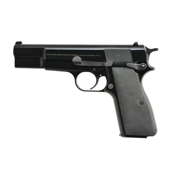 BROWNING HI POWER PISTOL WITH MATTE BLUE FINISH.
