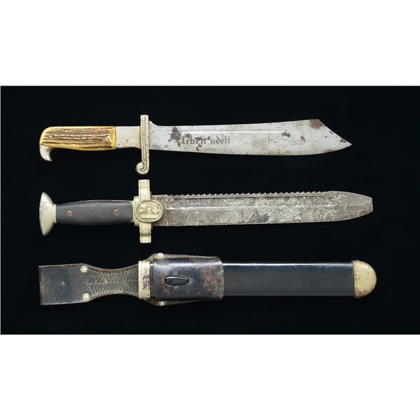 2 WWII GERMAN ENLISTED DAGGERS.