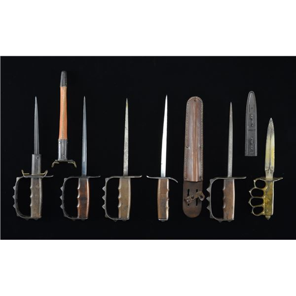 6 US MILITARY TRENCH KNIVES.