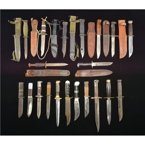 20 US MILITARY FIGHTING KNIVES.