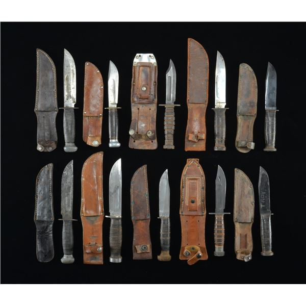 10 US MILITARY FIGHTING KNIVES.