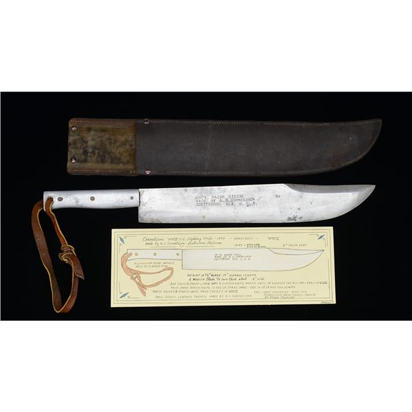 MASSIVE WWII CUSTOM MADE BUSH/FIGHTING KNIFE DATED
