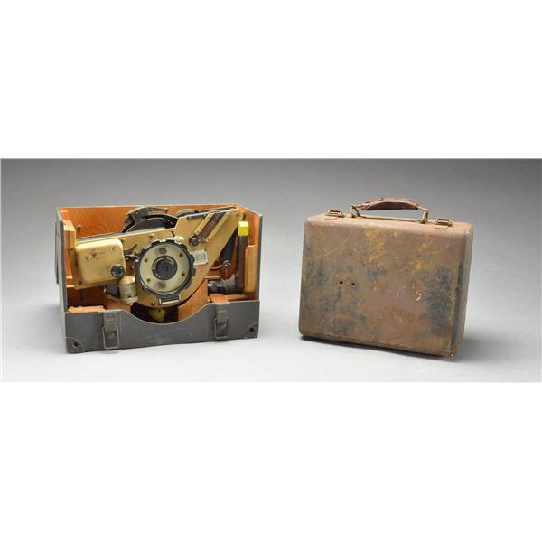 WWII GERMAN OCTANT & EMPTY EQUIPMENT CASE.