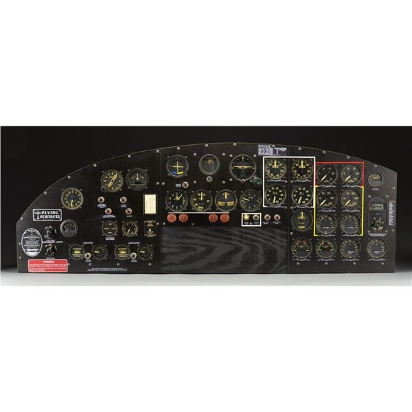 US ARMY AIR CORPS WWII ERA B17 G INSTRUMENT PANEL