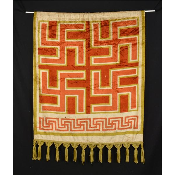 WWII GERMAN TAPESTRY OR CURTAIN FROM A HIGH