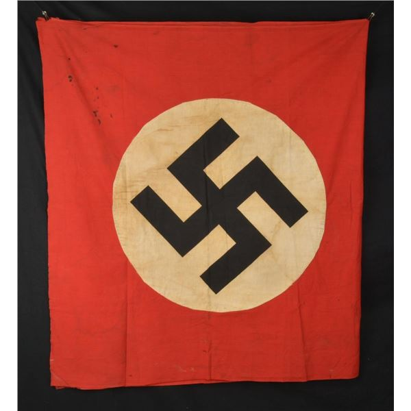 2 WWII GERMAN PARTY FLAGS/BANNERS.