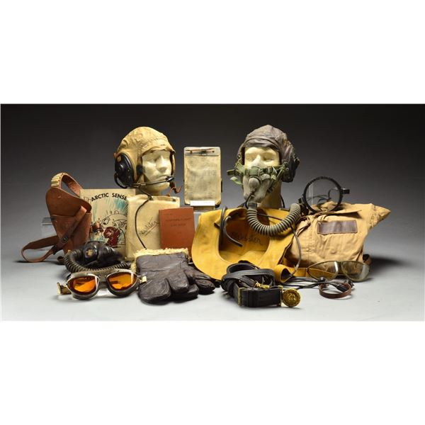 WWII US FLIGHT HELMETS, GEAR, CLOTHING & RELATED