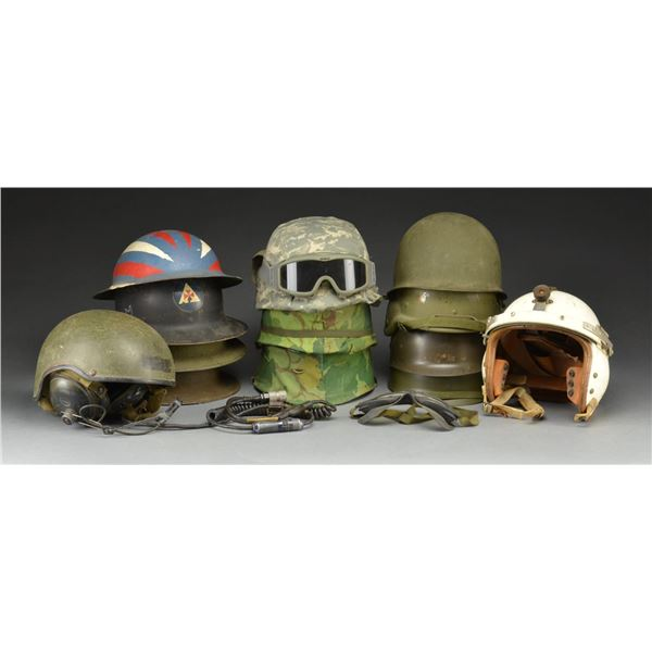 39 US HELMETS FROM WWI TO POST VIETNAM.