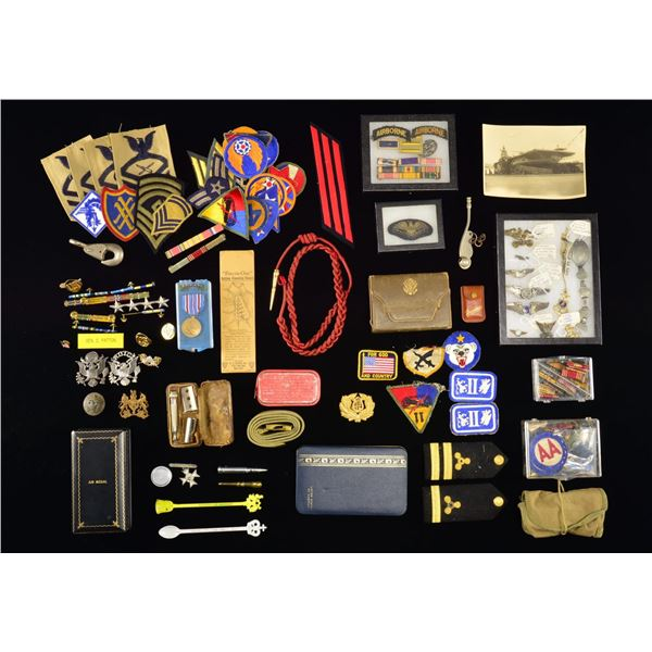 LARGE GROUP OF MOSTLY WWII & LATER US MEDALS,
