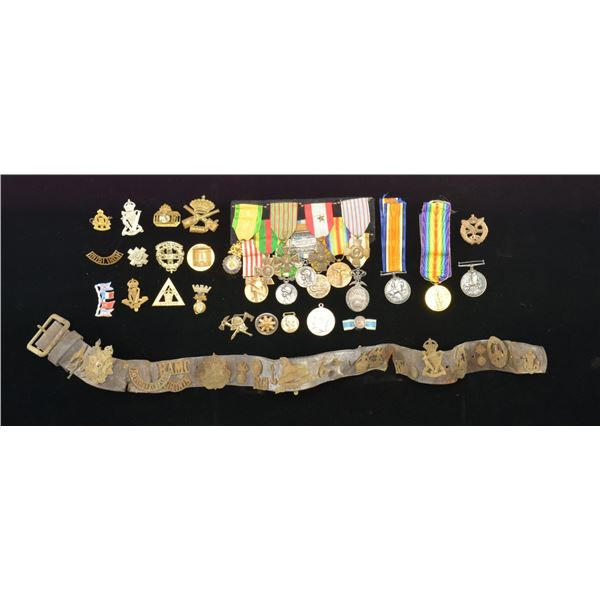 WONDERFUL GROUP OF MOSTLY FRENCH MILITARY MEDALS &