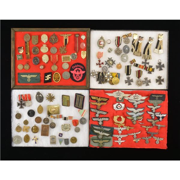 LARGE GROUP OF WWI & WWII GERMAN BADGES,