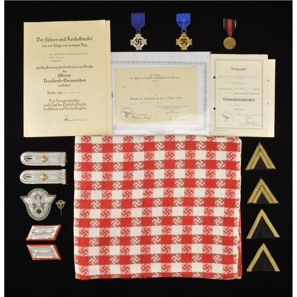 WWII GERMAN POLICE INSIGNIA, MEDALS & AWARD