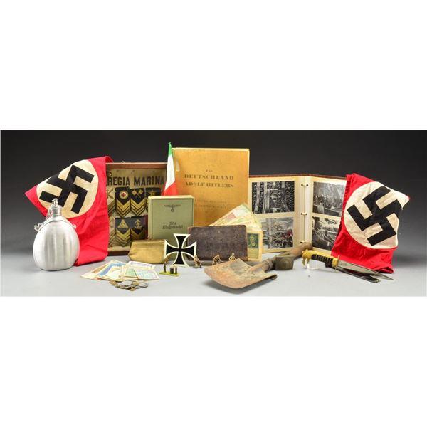 WWII GERMAN & ITALIAN MILITARIA & RELATED ITEMS.