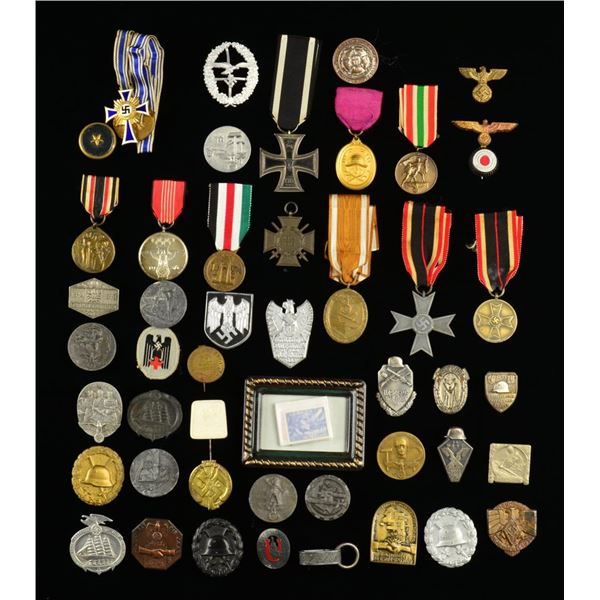 WWI & WWII GERMAN MEDALS, TINNIES, PINS & MORE.