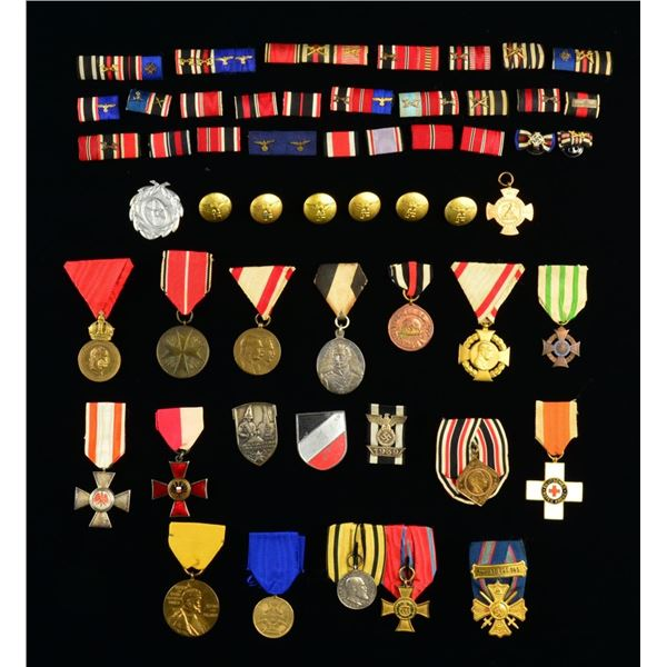 WWI & WWII GERMAN MEDALS, RIBBON BARS & MORE.