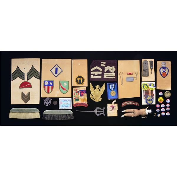 WWII & AFTER GROUP OF HISTORICAL PIECES FROM