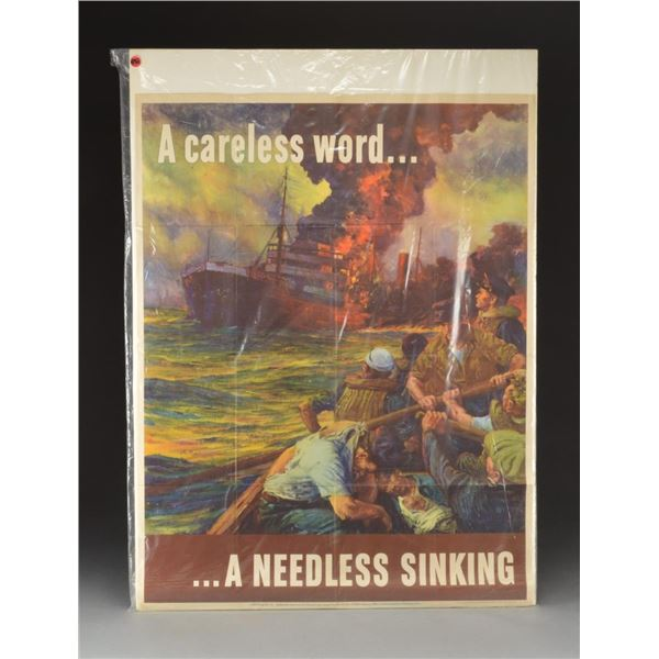 11 MOSTLY WWI & WWII MILITARY & PATRIOTIC POSTERS.