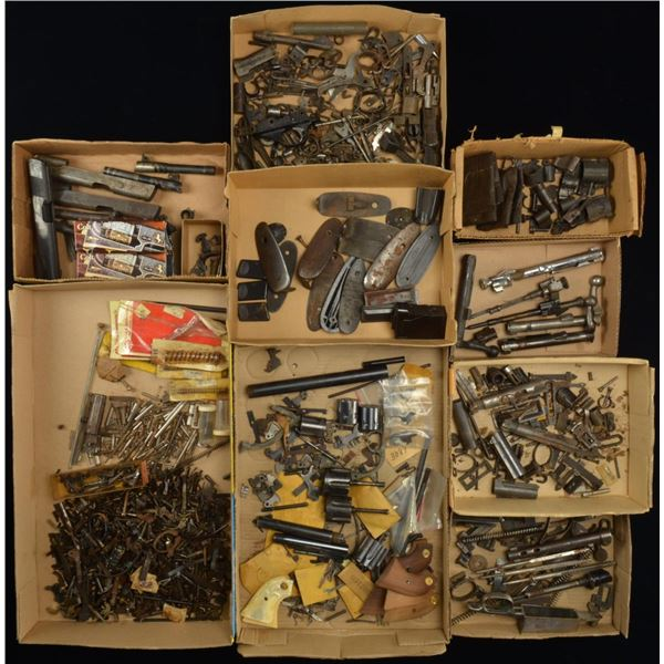 EXTENSIVE GROUPING OF GUN PARTS, MILITARY &