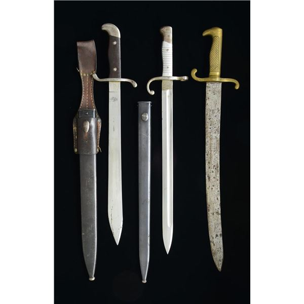 3 FOREIGN EDGED WEAPONS.