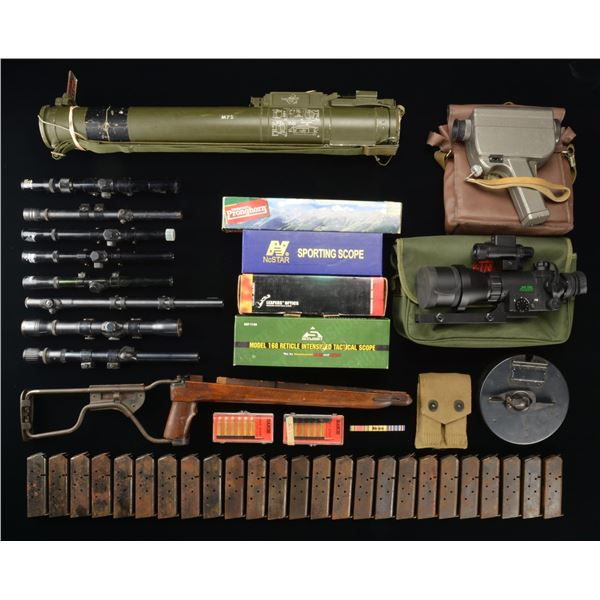 MILITARIA, MAGS., NIGHT VISION DEVICES & SCOPES.