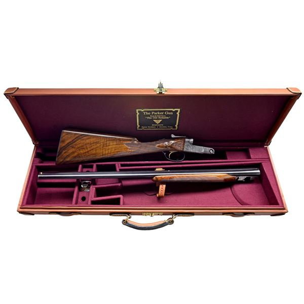 """VERY RARE 28 GAUGE PARKER AHE WITH 28"""" BARRELS."""