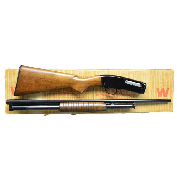 WINCHESTER MODEL 42 BOXED PUMP SHOTGUN.