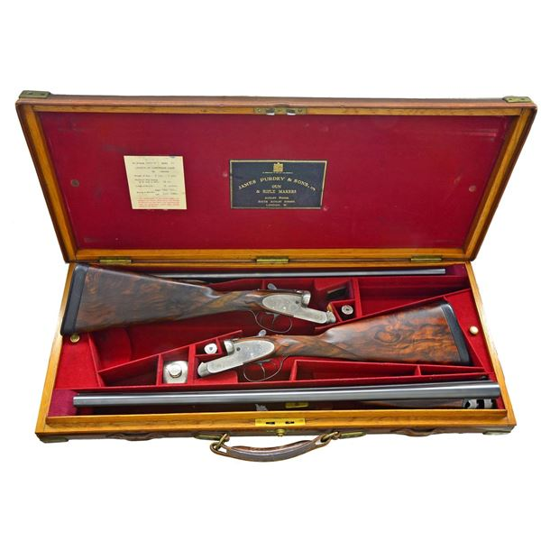 GOOD PAIR OF JAMES PURDEY SIDE LOCK EJECTOR GAME