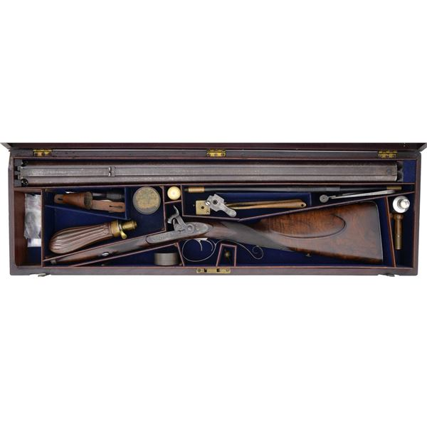 JAMES PURDEY 16 BORE PERCUSSION DOUBLE RIFLE