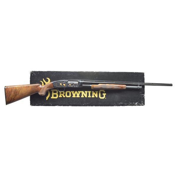 BROWNING MODEL 42 GRADE 5 PUMP SHOTGUN.