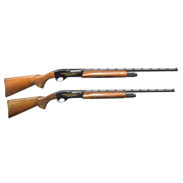 REMINGTON 1100 MATCHED PAIR SKEET AUTO SHOTGUNS.