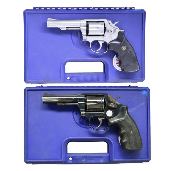 SMITH & WESSON 64-5 & 10-10 DA REVOLVERS.