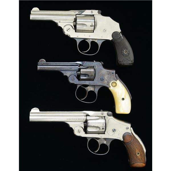 2 SMITH & WESSON & 1 IVER JOHNSON DA REVOLVERS.