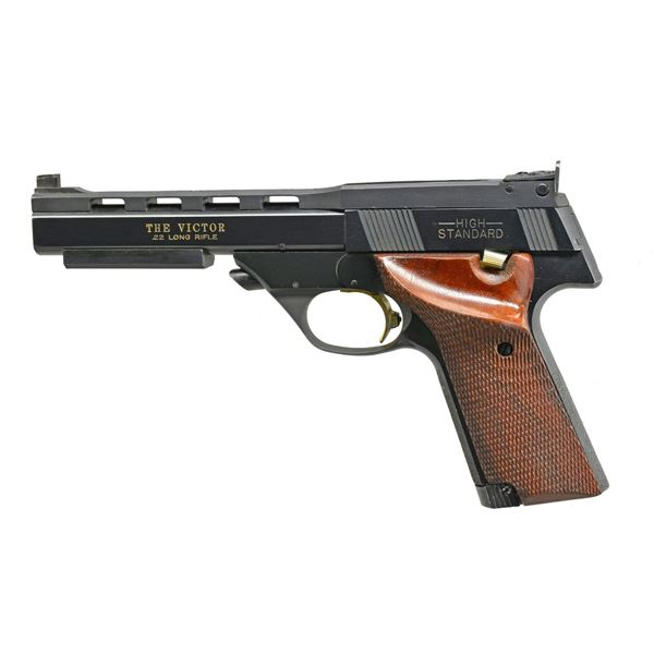 HIGH STANDARD THE VICTOR SEMI-AUTO PISTOL.