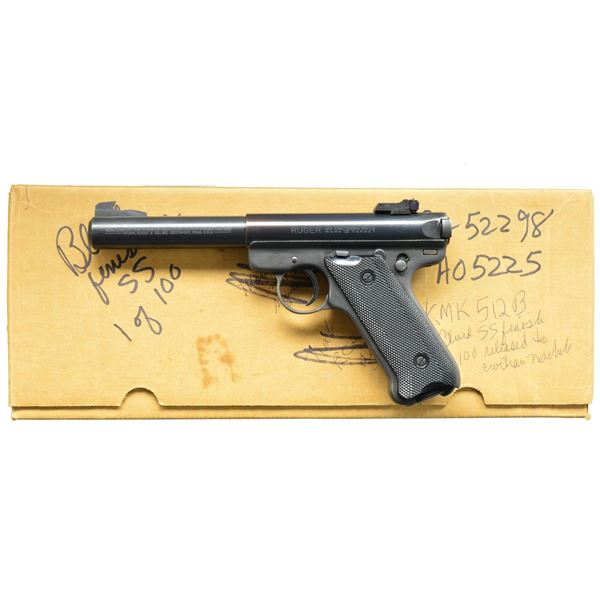 RUGER MKII BLUED STAINLESS TARGET SEMI AUTO
