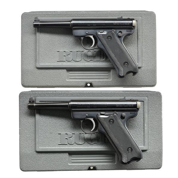 CONSECUTIVE PAIR RUGER PROTOTYPE 50th ANNIVERSARY