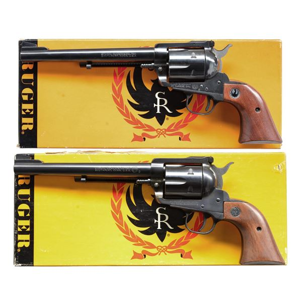 2 RUGER 30 CARBINE BLACKHAWK SERIAL #73 REVOLVERS.