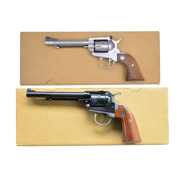 2 SCARCE RUGER NM SINGLE-SIX REVOLVERS.